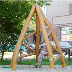 Spielhütte - Robinienholz
