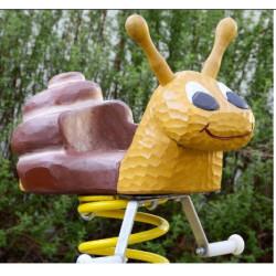 Balançoire à ressort (divers motifs) en bois de robinier