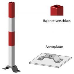 Poteau carré - amovible - Pp14