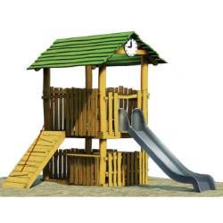 """Maison de jeux combinés """"Poste"""" en robinier"""