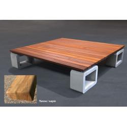 GTSM Lido Sapin - banc-couchette d'extérieur