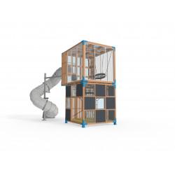 Halo Cubic - 2C - Installation pour place de jeux urbaine