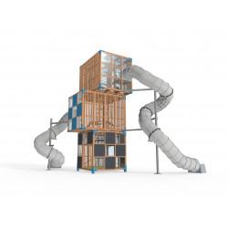 Halo Cubic - 3C - Installation pour place de jeux urbaine