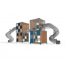 Halo Cubic - 4C - Installation pour place de jeux urbaine