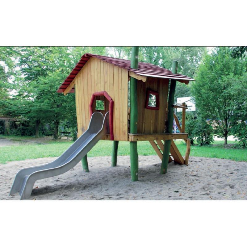 Spielhaus Auf Stelzen Mit Rutsche Aus Robinienholz Robinie