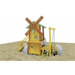 """Installation """"Le moulin à vent"""" - en robinier SIK"""