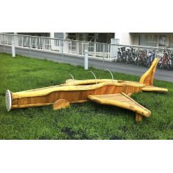 Flugzeug - Robinienholz SIK