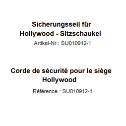 Corde de sécurité pour siège Hollywood