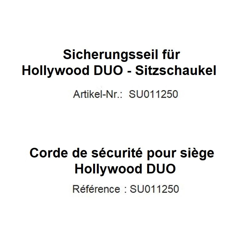 Sicherungsseil für Sitzschaukel Hollywood DUO