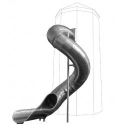 Toboggan tubulaire en spirale - acier inoxydable