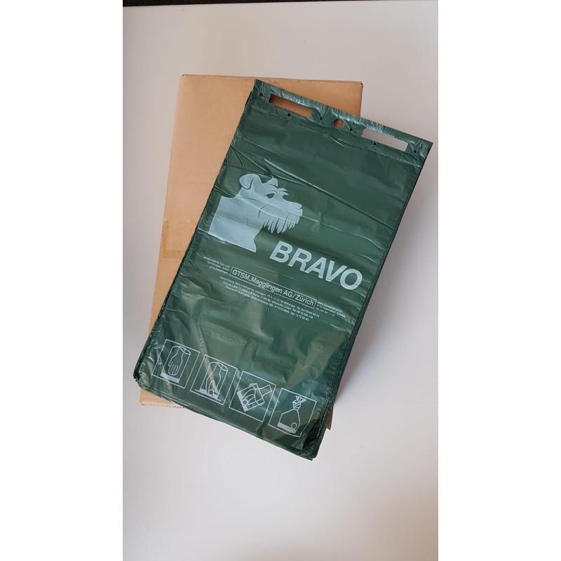 BRAVO sachets /sacs ramasse crottes en bloc, vert foncé