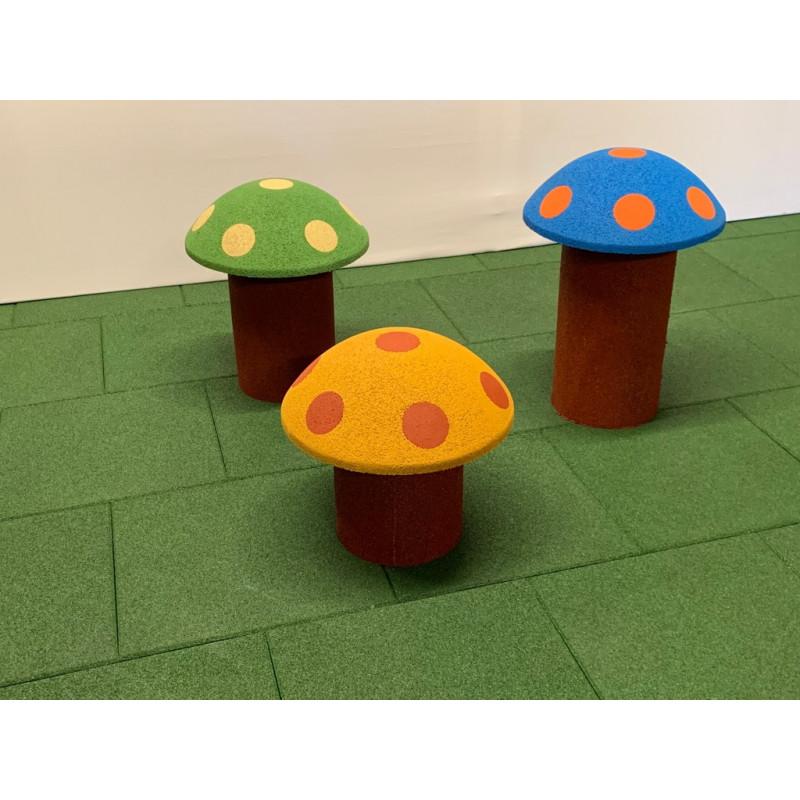 Spielpilze aus Gummigranulat - Spielgerät