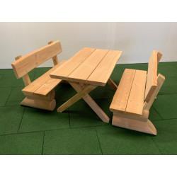 Ensemble table - bancs en bois pour enfants