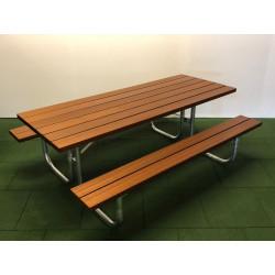 Picknick bois-métal - Sipo - combinaison banc / table
