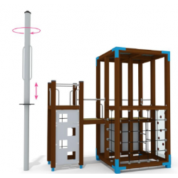Halo Spielturm mit Dropzone - Urbane Spielplatzanlage