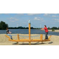 Grosses Wackelboot - Robinienholz SIK