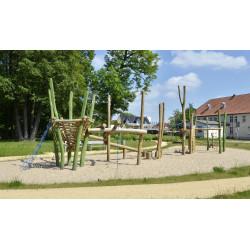 "Kletter-Balancier-Anlage ""Kleine Wiese"" - Robinienholz SIK"