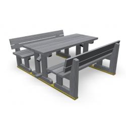 ombinaison banc / table en bois - pique-nique