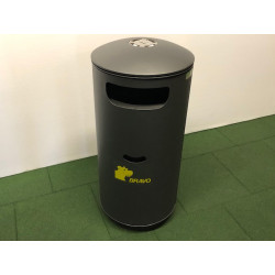 City BRAVO - Abfallbehälter mit integr. Hundekotbeutel-Dispenser