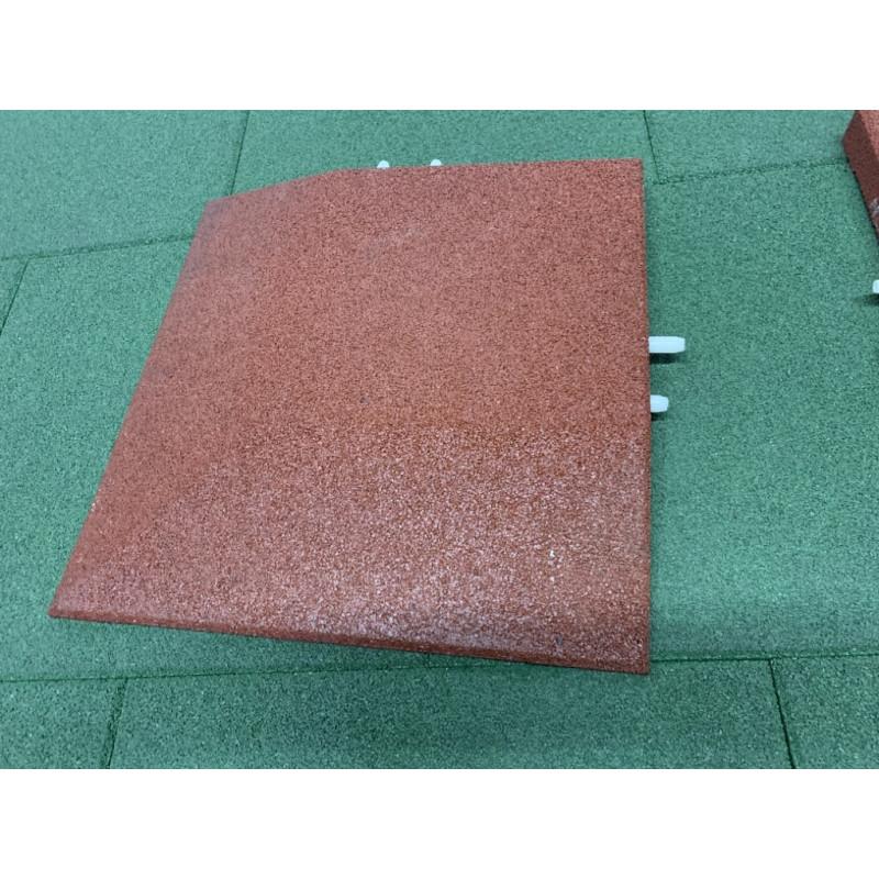 Eck-Fallschutzplatten - 5 cm/ rot
