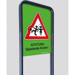 """GTSM Spielplatz Warn-Schild A2 """"ACHTUNG: Spielende Kinder!"""""""