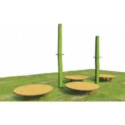 Springplattenkombination - Robinienholz SIK