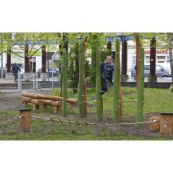 """Parcours d'équilibre """"Le lémur"""" - en robinier SIK"""