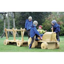 Traktor und Anhänger - Robinienholz SIK