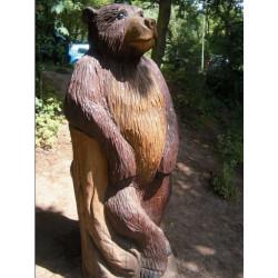 """Sculpture de jeu """"l'ours debout"""" - chêne massif SIK"""