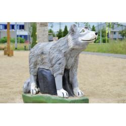 """Spielskulptur """"Wolf"""" stehend - Robinienholz SIK"""