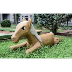 """Sculpture de jeu """"le cheval couché"""" - robinier SIK"""
