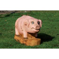 """Sculpture de jeu """"le petit cochon - robinier SIK"""