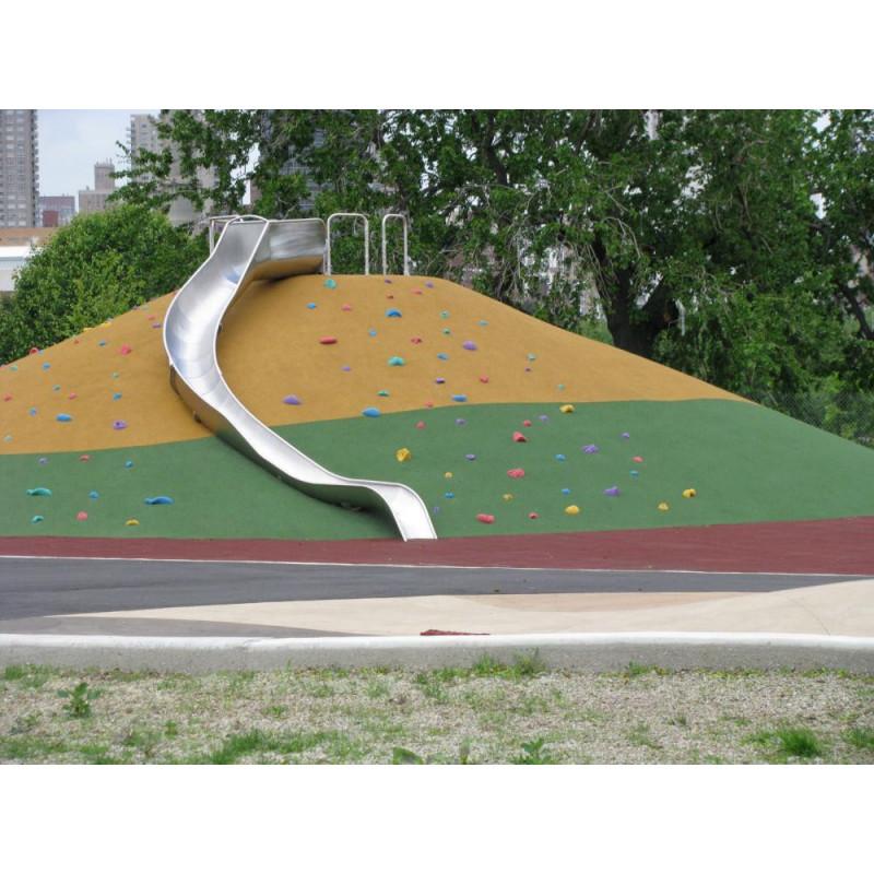 Endlos-Kurven-Rutschbahn, bodeneben