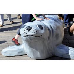 """Sculpture de jeu """"le phoque"""" - robinier SIK"""