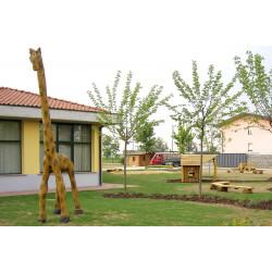 "Sculpture de jeu ""la giraffe"" - en robinier SIK"