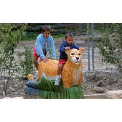 """Sculpture de jeu """"le léopard"""" - robinier SIK"""