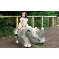 """Sculpture de jeu """"le rhinocéros"""" - robinier SIK"""