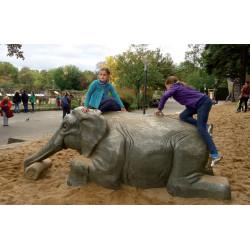 """Sculpture de jeu """"l'éléphant"""" - chêne massif SIK"""