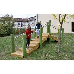 Therapietreppe - Robinienholz SIK