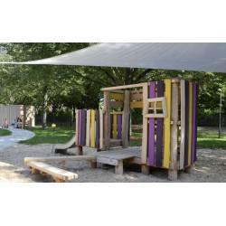 """Installation de jeux """"le petit caribou"""" - robinier SIK"""