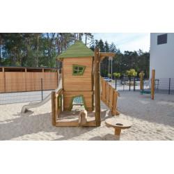 "Spielanlage ""Käfer"" Kombi mit Sandbaustelle - Robinienholz SIK"