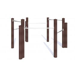 Six barres fixes