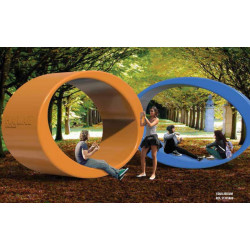 Ellipsen-Tunnel-Skulptur EQUILIBRIUM PLAY IN ART®