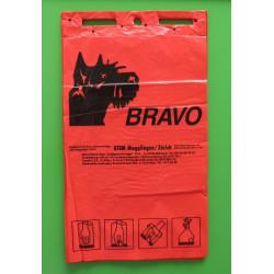 BRAVO sachets ramasse crottes en bloc, rouge