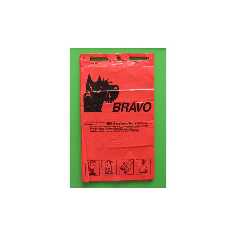 BRAVO Hundekot-Beutel geblockt, rot