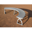 System 104 Lavario 90° - Sitz-Bank-System Aluminium