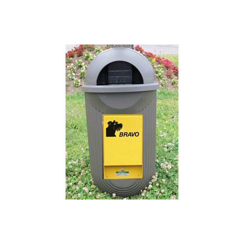 BRAVO Street - distributeur avec réceptacle à ordures, bronze