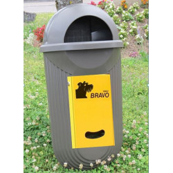 BRAVO Street - Smily Dispenser mit Abfallbehälter, bronze