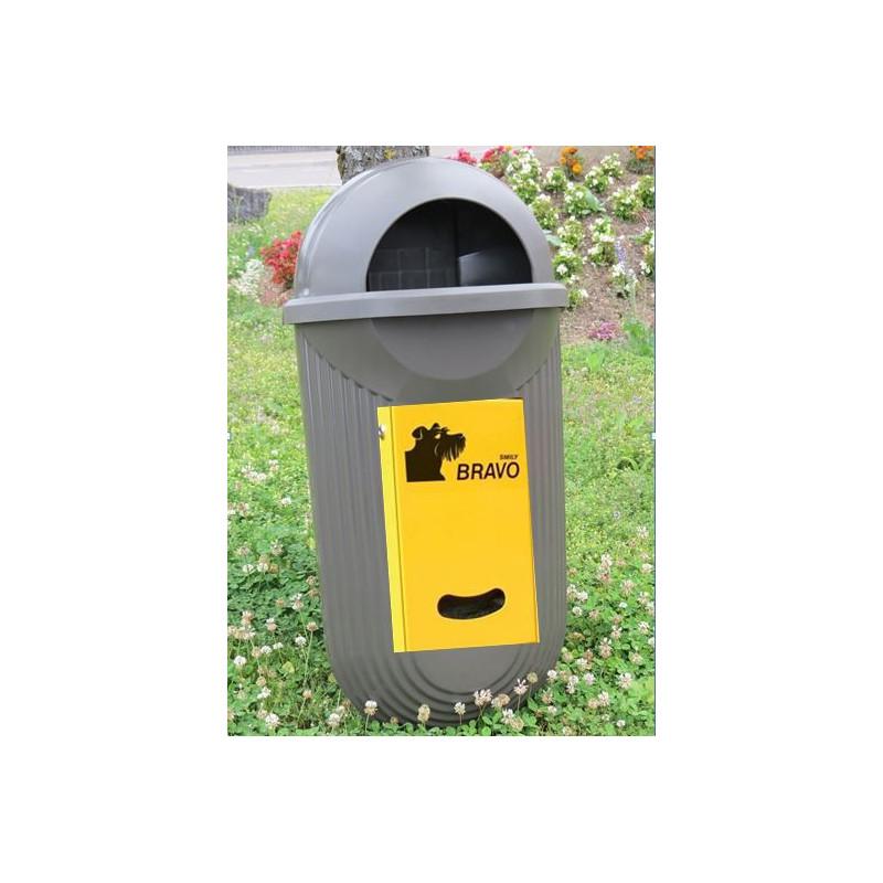 BRAVO Street - Smily distributeur avec réceptacle à ordures, bronze