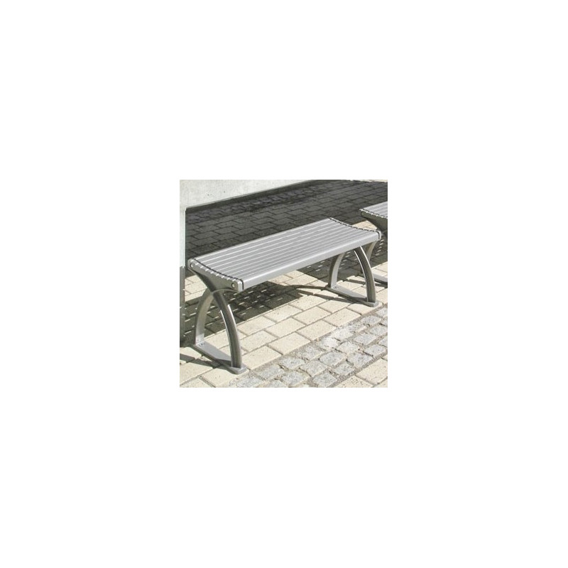 System 104 Lavario Gerade - Sitz-Bank-System Aluminium
